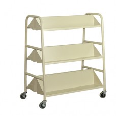 Double Sided Book Trolley With Medium Duty Castor c/w 2 Sloping Shelves