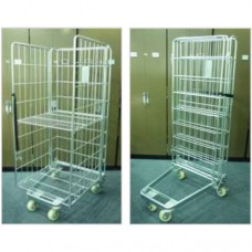 """A"" Frame Security Roll Container with Divider"