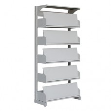 Periodical Shelving With 5 Sets Of Pivoting Shelf