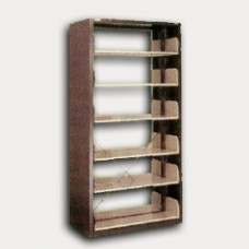 Double Shelves Book Rack Without Side Panel