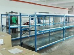 Medium Duty Long Span Racking with Steel Decking Panel